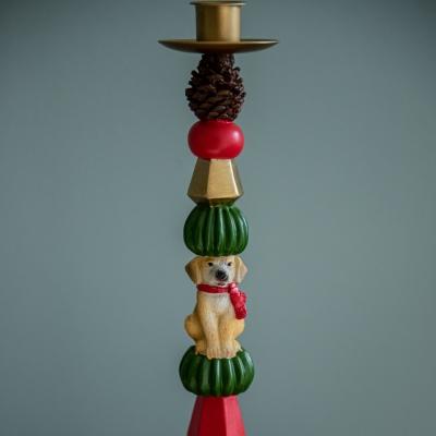 <p>Candlepuppies candlestick<br>H=44 cm</p> - Floralia