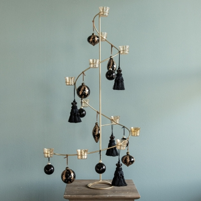 XMAS TREE BLACK AND GOLD - Floralia Event Design