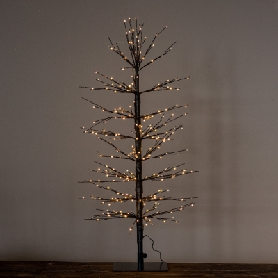 <p>Metal Christmas tree with 320 LEDs. <br>Shining industrial effect, ideal for any type of environment<br>H=90 cm</p> - Floralia